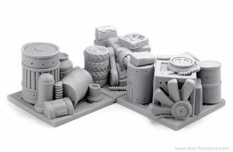 Storehouse garbage barricades (unpainted)