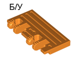 ! Б/У - Hinge Train Gate 2 x 4 Locking Dual 2 Fingers with Rear Reinforcements, Orange (44569 / 4525851) - Б/У
