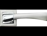 Дверные ручки RUCETTI RAP 12-S SN/CP Цвет Белый никель/хром