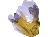 Bionicle Mask of Earth Unity with Marbled Trans-Purple Pattern, Pearl Gold (24154pb02 / 6135022)