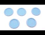 Крышечки под эпоксидку в горох синие