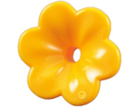Friends Accessories Flower with 6 Rounded Petals and Pin, Bright Light Orange (93081d / 4625279)