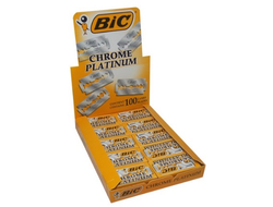 Лезвия для бритвы-шаветт Bic Chrome Platinum (блок 100 шт.)