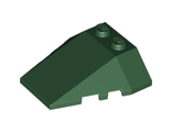 Wedge 4 x 4 Triple with Stud Notches, Dark Green (48933 / 6101853)