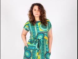 ПЛАТЬЕ 1151. Длинное летнее платье из приятной струящейся ткани, по талии вшита кулиска, спереди внизу разрез. Длина изделия 141 см. Материал: Штапель