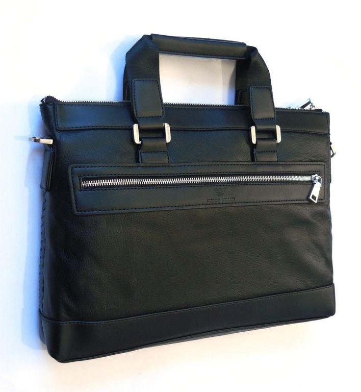 93db952b3884 Кожаный портфель «АРМАНИ» Двухсторонний. Поделиться. Каталог товаров · Мужские  сумки