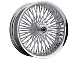 "0203-0560 Drag Specialties FRONT WHEEL 50 SPOKE SOFTLIP WHEEL 21""X3.5"" CHROME"