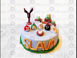 """Торт № 10 """"Angry Birds 2"""" (Детские торты)"""