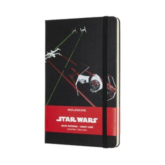 Блокнот Moleskine Star WarsTie Fighter (Large, черный, в линию)
