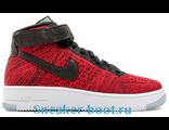 Кроссовки Nike Air Force Flyknit красные