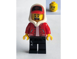 Jack Davids - Red Jacket with Cap and Hood ;Lopsided Smile / Scared;, n/a (hs018)