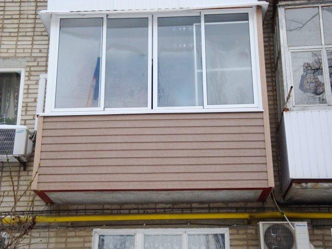 Балкон 6 метров наружная отделка.