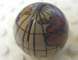 Cylinder Hemisphere 2 x 2 with Globe Pattern - Undetermined Globe Color, Dark Tan (61287c01pb01)