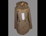 Женская весенняя куртка коричневая 002-088