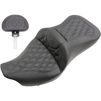 Гелевое сиденье для Harley Davidson FL - Saddlemen 2-UP SEAT ROAD SOFA LS FRONT|REAR LEATHER|SADDLEGEL™ BLACK