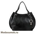 Женская сумка из натуральной кожи L-Craft L 55 черная