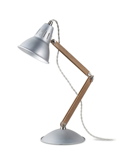 Bermondsey Table Lamp in Aluminium - Oak   цвет Алюминий   арт.LWO06