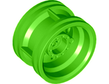 Wheel 30.4mm D. x 20mm with No Pin Holes and Reinforced Rim, Lime (56145 / 6133517)