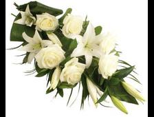 Букет из белых роз и Лилий