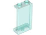 Panel 1 x 2 x 3 with Side Supports - Hollow Studs, Trans-Light Blue (87544 / 6172681 / 6239391)