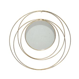 Зеркало настенное, металл, арт., 35758 - ELYPTIC Miroir Mirror Dor? / Gold Fer + miroir / Iron + mirror D70.5cm