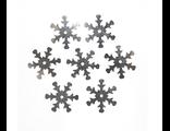 Пайетки снежинка металлик Цена за 10 гр.