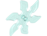 Technic, Circular Saw Blade with Pin Hole and Six Teeth  Large Shuriken , Trans-Light Blue (41125 / 6261364)