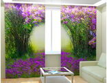 Фотошторы - арка цветов