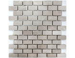 Мраморная мозаика № 02 BEIGE MARBLE MOSAIC TUMBLED BASKET BRICK