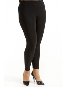 Лосины женские, трикотажные, черного цвета 211-Lux. Размеры: 52-66, ТМ Лакшери плюс