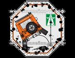 Наклейка для внедорожников и джипа (от 65 р.) на стекло УАЗ 4х4 отливает на знак главная магистраль!
