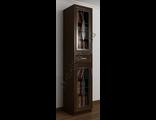 Шкаф книжный с витражом и ящиком по середине ШкКн(1)№7