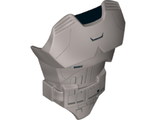 Large Figure Torso with SW Gray Armor Pattern Captain Phasma, Flat Silver (21561pb06 / 6137964)