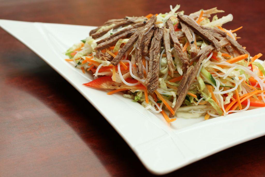 Рецепт салата с фунчозой и говядиной 3