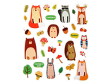 """Объемные наклейки """"Лесные животные"""""""