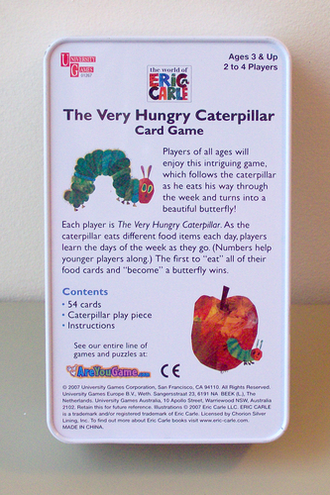 The very hungry catepillar (card game)