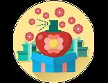 Получить или подарить КОРОБКУ ДЛЯ УСИЛЕНИЯ ЛИЧНОГО ОБАЯНИЯ  с волшебными  цветочными запахами Флауэрленда (для взрослых)