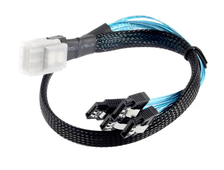 Кабель коннектор MINI SAS SFF-8087 To 4 SATA, 36P TO 4 SATA, cable , длина 0.5, 580751-001, 538872-002,  591475-B21