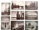 """Набор из 8 небольших открыток """"Черно-белые города"""""""