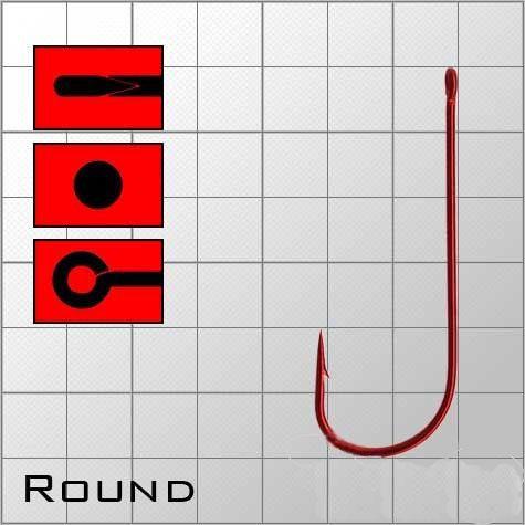 """Крючки """"Волжанка""""  Round от   1 до   18 (10штуп) красные"""