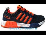 Детские кроссовки черно-оранжевые