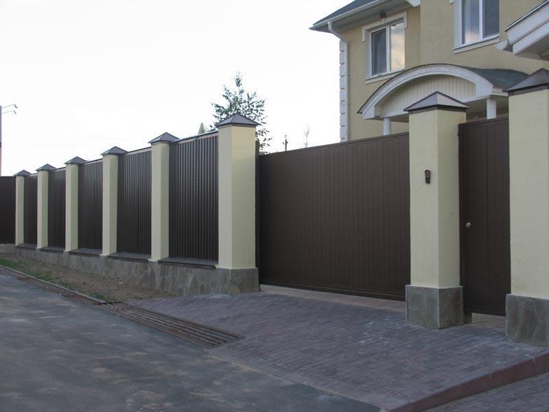 Для дома забор