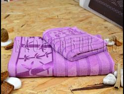 Бамбуковое полотенце Спорт класса фиолетовый 48х98