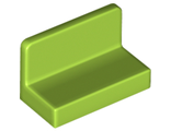 Panel 1 x 2 x 1 with Rounded Corners, Lime (4865b / 6121949 / 6146237)