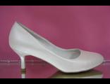 Свадебные туфли айвори перламутр маленький рюмочкой каблук классика № B117-V049=49