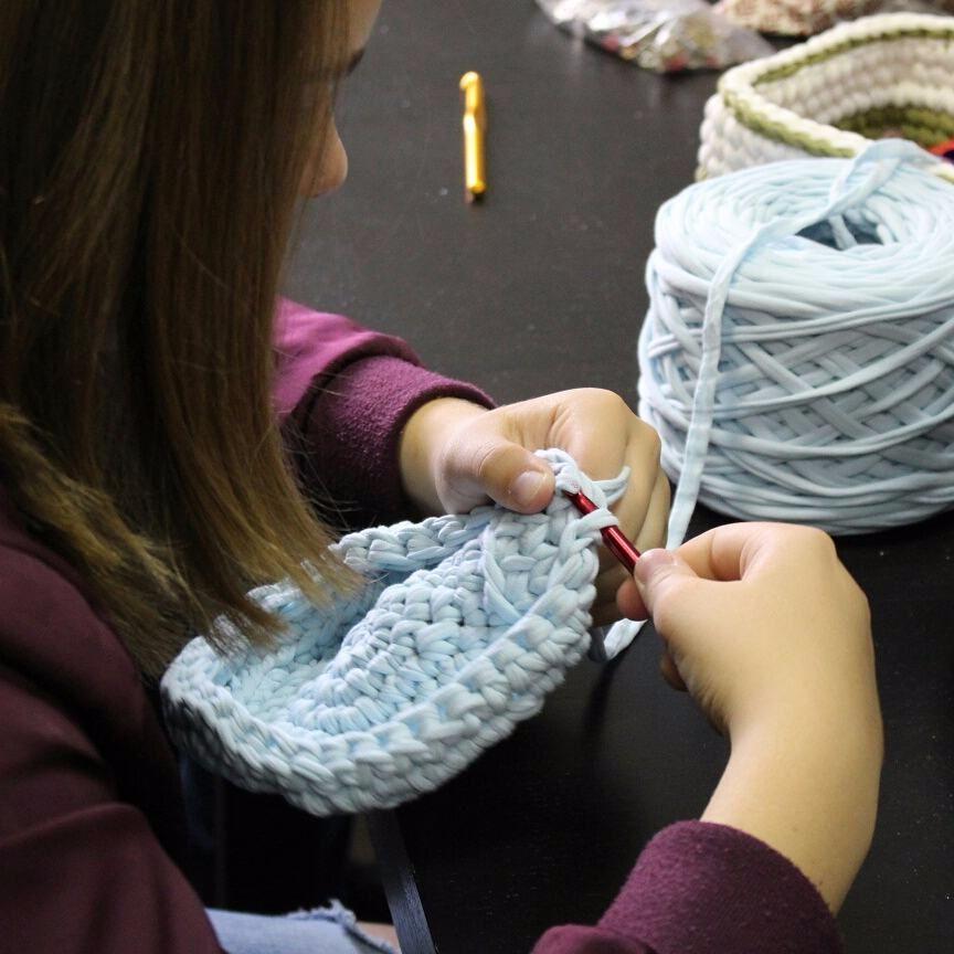 Вязание трикотажной ниткой 7
