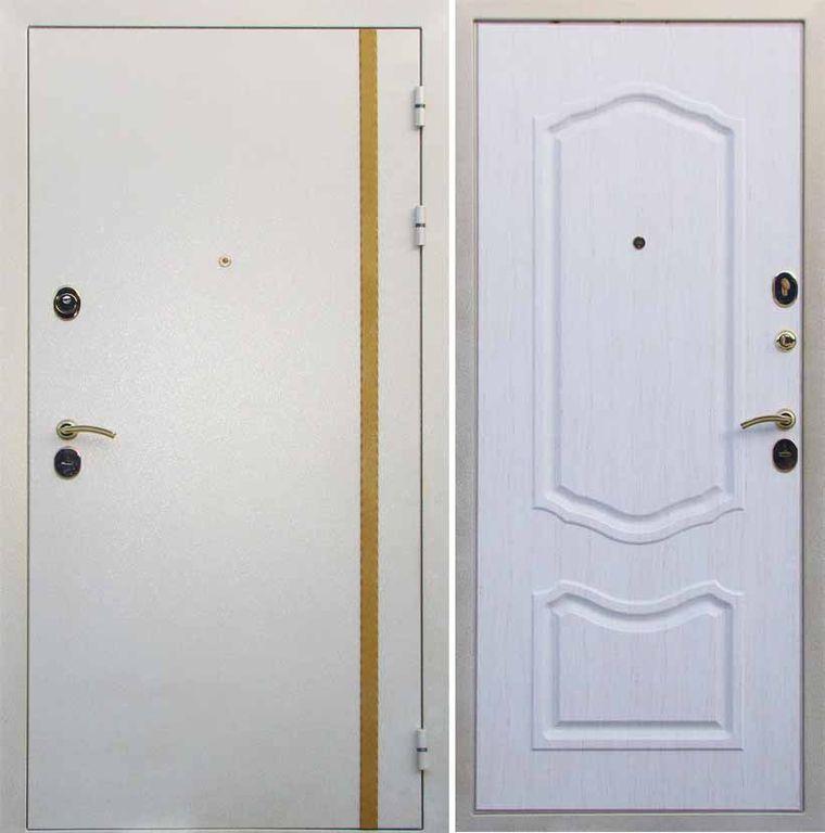 железная дверь золото на белом