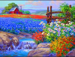 Картина (раскраска) по номерам на холсте - Цветочное поле GX9151