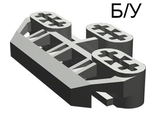 ! Б/У - Technic, Axle Connector Block 3 x 6 with 6 Axleholes, Dark Gray (32307) - Б/У