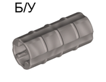 ! Б/У - Technic, Axle Connector 2L Ridged with x Hole x Orientation, Pearl Light Gray (6538b / 4177258) - Б/У